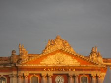 Capitole Square Toulouse, afternoon sun.