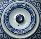 A blue teapot